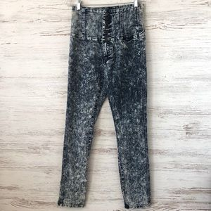 AMERICAN BAZI Ultra High Rise 80s Acid Wash Skinny